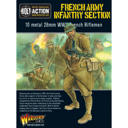 FRENCH ARMY INFANTRY SECTION fanteria francese BOLT ACTION 10 miniature in metallo WARLORD GAMES scala 1/56 Warlord Games - 1