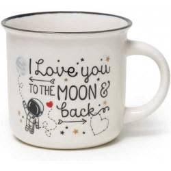 TAZZA mug CUP PUCCINO volume 350 ml LEGAMI porcellana I LOVE YOU TO THE MOON & BACK Legami - 1