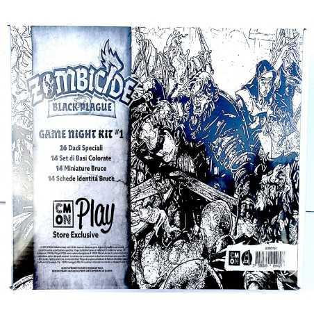 GAME NIGHT KIT 1 kickstarter ZOMBICIDE black plague CMON PLAY store exclusive SIGILLATO espansione BRUCE in italiano COOLMINIORN
