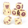 IMPERIAL NOBILITY TEAM DICE SET 7 dadi BLOOD BOWL warhammer SCATOLA TRASPARENTE Games Workshop - 2