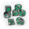 BLACK ORC TEAM DICE SET 7 dadi BLOOD BOWL warhammer SCATOLA TRASPARENTE Games Workshop - 2