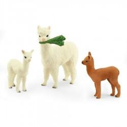FAMIGLIA DI ALPACA schleich WILD LIFE miniature in resina 42544 ANIMALI età 3+ Schleich - 1