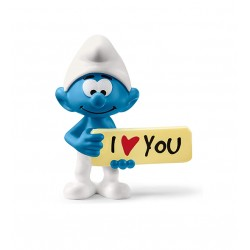 PUFFO I LOVE YOU i puffi THE SMURFS originali SCHLEICH miniature in resina PERSONAGGI età 3+ Schleich - 1