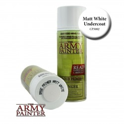 SPRAY BIANCO matt white OPACO primer THE ARMY PAINTER colore 400 ML bomboletta THE ARMY PAINTER - 1