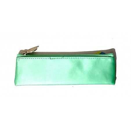 ASTUCCIO saccuccioli MINI BUSTINA glam glitter VERDE ACQUA con zip LEBEZ 80865 Legami - 1