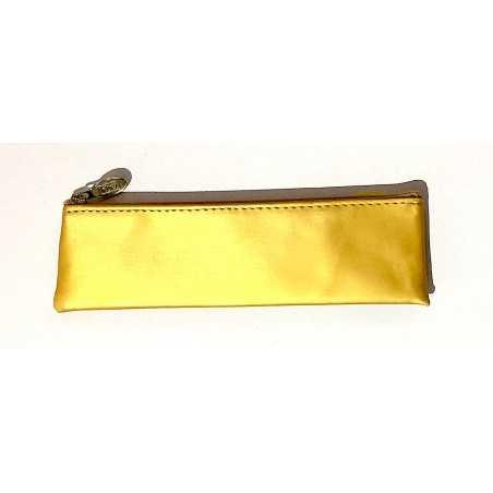 ASTUCCIO saccuccioli MINI BUSTINA glam glitter ORO CHIARO con zip LEBEZ Legami - 1