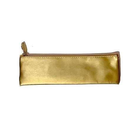 ASTUCCIO saccuccioli MINI BUSTINA glam glitter ORO SCURO con zip LEBEZ Legami - 1
