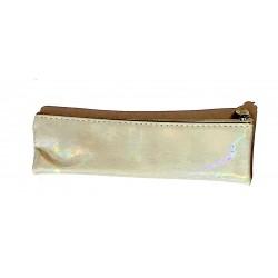 ASTUCCIO saccuccioli MINI BUSTINA glam glitter GRIGIO con zip LEBEZ LEBEZ - 1