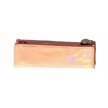 ASTUCCIO saccuccioli MINI BUSTINA glam glitter ROSA con zip LEBEZ LEBEZ - 1