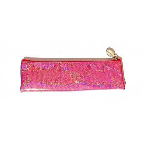 ASTUCCIO saccuccioli MINI BUSTINA glam glitter FUCSIA con zip LEBEZ LEBEZ - 1