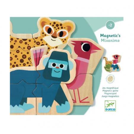 MAGNETIC MIXANIMO puzzle magnetico IN LEGNO animali DJECO DJ03126 età 2+ Djeco - 1