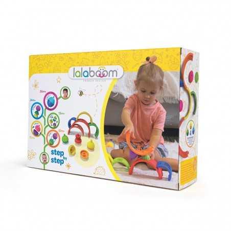 ARCOBALENO rainbow set LALABOOM step by step COSTRUZIONI IN PLASTICA età 18 mesi + lalaboom - 1