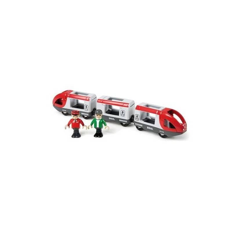 TRENO PASSEGGERI treni in legno BRIO trenino 33505 TRAVEL TRAIN
