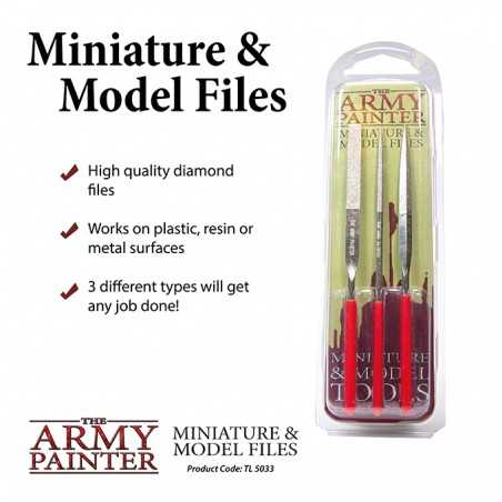 MINIATURE AND MODEL FILES limette di precisione SET DI 3 LIME in metallo THE ARMY PAINTER THE ARMY PAINTER - 1