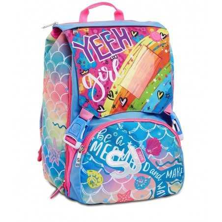 ZAINO SDOPPIABILE backpack OCEANLED GIRL con luci SJ GANG scuola SEVEN SEVEN - 1