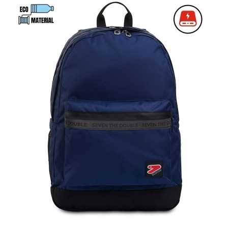 ZAINO the double PRO XXL backpack SEVEN con powerbank BLU DARK NAVY SEVEN - 1