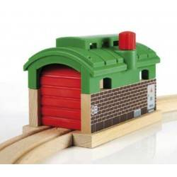 RIMESSA PASSANTE treni legno BRIO trenino 33574 TRAIN GARAGE