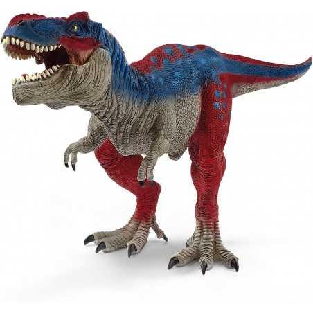 T-REX BLU E ROSSO tirannosauro ESCLUSIVA raro SCHLEICH miniatura in resina DINOSAURO Schleich - 1