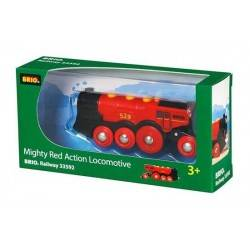 GRANDE LOCOMOTIVA ELETTRICA ROSSA BRIO trenino 33592 MIGHTY RED ACTION LOCOMOTIVE