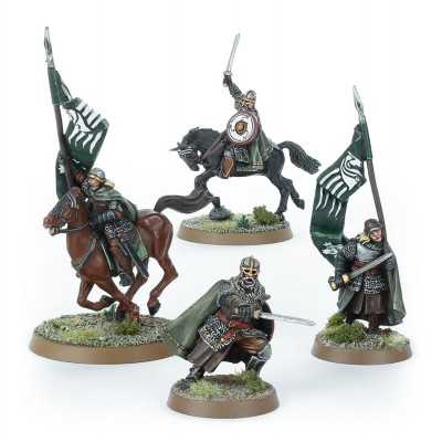 MOUNTED ROHAN COMMAND Middle Earth Lord of the Rings miniature game Games Workshop - 1