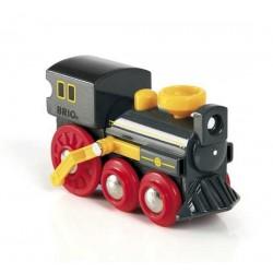 LOCOMOTIVA A VAPORE treni in legno BRIO trenino 33617 OLD STEAM ENGINE