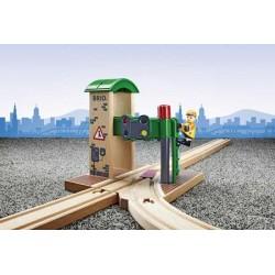 DOPPIO SEMAFORO CON OPERATORE treni in legno BRIO trenino 33674 SIGNAL STATION