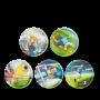 SET DI 5 KLETTIES per il tuo zaino CALCIO 2021 intercambiabili ERGOBAG soccer striker Ergobag - 1