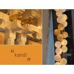 LUCI HAPPY LIGHTS KANDI fila 20 palline colorate in corda con lampadine e spina 220V