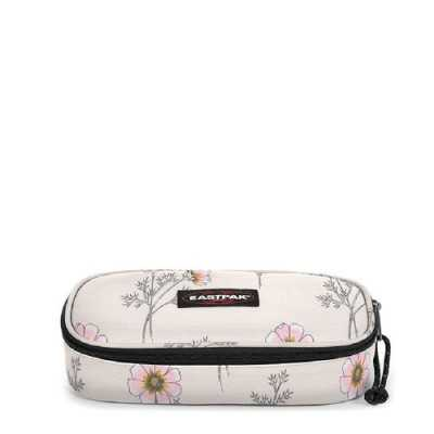 ASTUCCIO eastpak OVAL SINGLE fantasia WHITE WILD FLOWERS pencil case EASTPAK - 1