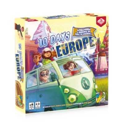 10 DAYS IN EUROPE gioco da tavolo IN ITALIANO dv giochi VIAGGIO IN EUROPA età 8+ daVinci Games - 1