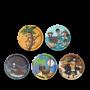 SET DI 5 KLETTIES per il tuo zaino CACCIA AL TESORO intercambiabili ERGOBAG treasure hunter Ergobag - 1