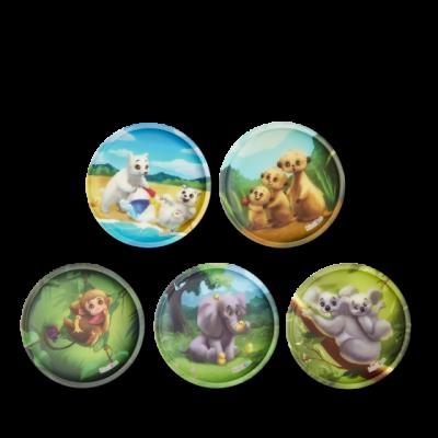 SET DI 5 KLETTIES per il tuo zaino BABY ANIMALS intercambiabili ERGOBAG zoobabies Ergobag - 1