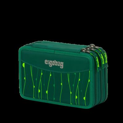 ASTUCCIO maxi 3 ZIP scuola ERGOBAG triplo RAMBAZAMBEAR in materiale riciclato VERDE attrezzato Ergobag - 1