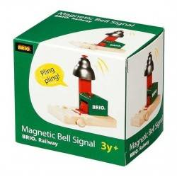 SEGNALE MAGNETICO CON CAMPANA treni BRIO trenino 33754 Magnetic Bell Signal