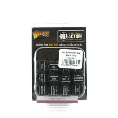 BOLT ACTION Order Dice Black set 12 dadi ordine NERO Warlord Games - 1