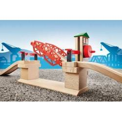 PONTE LEVATOIO treni in legno BRIO trenino 33757 Lifting Bridge