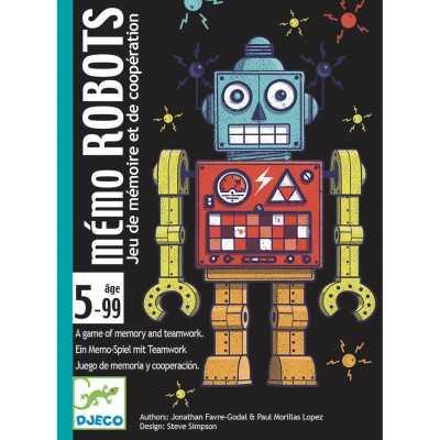 MEMO ROBOTS gioco di carte DJECO di memoria DJ05097 in italiano COOPERATIVO età 5+ Djeco - 2