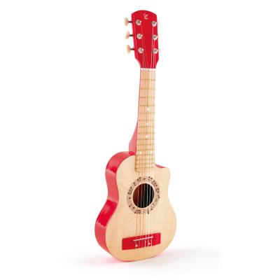 CHITARRA ROSSA in legno HAPE red flame guitar 6 CORDE strumento musicale E0602 età 3+ Hape - 1