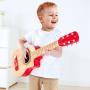 CHITARRA ROSSA in legno HAPE red flame guitar 6 CORDE strumento musicale E0602 età 3+ Hape - 3