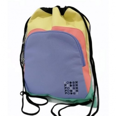SACCA SPORT easy backpack FEDEZ X SEVEN zainetto MULTICOLOR a strozzo COULISSE SEVEN - 1