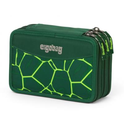 ASTUCCIO attrezzato 3 ZIP scuola ERGOBAG triplo scomparto BEARREX materiale riciclato VERDE Ergobag - 1