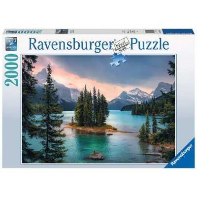 PUZZLE ravensburger 2000 PEZZI originale SPIRIT ISLAND IN CANADA cm 98 x 75 Ravensburger - 1