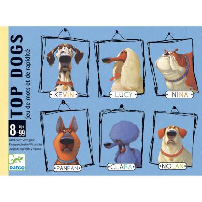 TOP DOGS gioco di carte RAPIDITA' E PAROLE djeco CANI sillabe DJ05099 età 8+ Djeco - 1