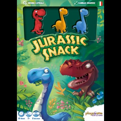 JURASSIC SNACK in italiano DINOSAURI gioco UNO CONTRO UNO 12 miniature PLAYA GAME EDIZIONI età 7+ Playa Game Edizoni - 1