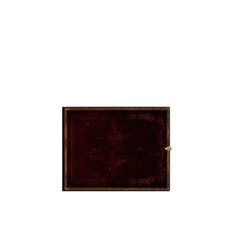 Libro degli ospiti bianco NERO MAROCCHINO orizzontale cm 23x18 - PAPERBLANKS