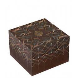 Scatola dei ricordi BHAVA quadrata cartoncino cm 10x10x7H - PAPERBLANKS