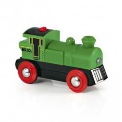 LOCOMOTIVA ELETTRICA treni in legno BRIO trenino 33595 BATTERY POWERED ENGINE