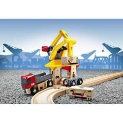 POSTAZIONE CARICO MERCI treni in legno BRIO trenino 33280 FREIGHT GOODS STATION