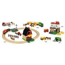 FERROVIA DELLA FATTORIA treni in legno BRIO trenino 33719 FARM RAILWAY SET