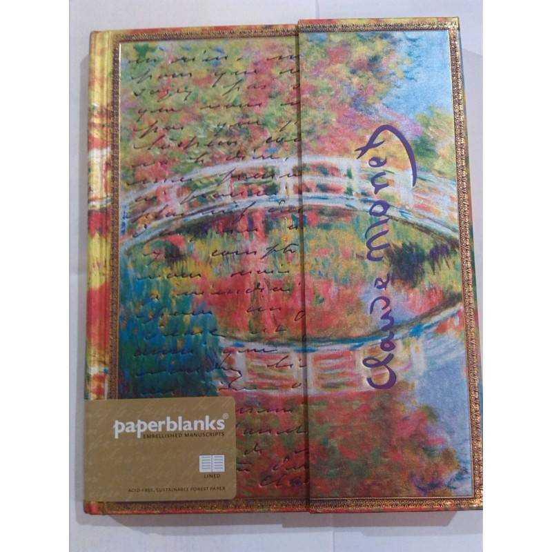 Diario bianco MONET IL PONTE ultra cm 23x18 edizione limitata - PAPERBLANKS
